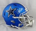 Dak Prescott Autographed Dallas Cowboys Blaze Full Size Replica Helmet- JSA Witnessed Auth/Holo