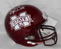 Dak Prescott Autographed Mississippi State Bulldogs F/S Riddell Helmet *White-JSA W Auth/Holo
