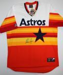 Nolan Ryan Autographed Houston Astros Rainbow Jersey *Front Blue- JSA Authenticated