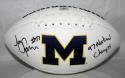 Jon Jansen Autographed Michigan Wolverines Logo Football W/ National Champs- Jersey Source Auth.