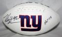 Michael Strahan Autographed New York Giants Logo Football W/ HOF- JSA W Authenticated
