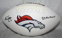 Emmanuel Sanders Autographed Denver Broncos Logo Football W/ SB Champs- JSA W Auth