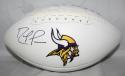 Randy Moss Autographed Minnesota Vikings Logo Football- JSA W Authenticated