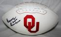 Barry Switzer Autographed OU Sooners Logo Football- JSA W Auth