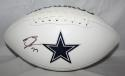 Tyron Smith Autographed Dallas Cowboys Logo Football- JSA W Authenticated