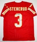 Jan Stenerud Autographed Red Pro Style Jersey W/ HOF- JSA W Authenticated