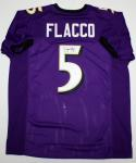 Joe Flacco Autographed Purple Pro Style Jersey- JSA Witness Authenticated