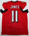 Julio Jones Autographed Red Pro Style Jersey- JSA Witness Authenticated