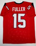 Will Fuller Autographed Red Pro Style Jersey- JSA Witnessed Authenticated *5