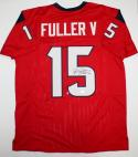 Will Fuller V Autographed Red Pro Style Jersey- JSA Witnessed Authenticated *5