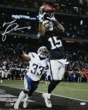 Michael Crabtree Autographed Oakland Raiders 16x20 Catch vs Chargers PF Photo- JSA W Auth