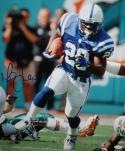 Marshall Faulk Autographed Baltimore Colts 16x20 Running PF Photo- JSA Witness Auth