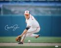 Cal Ripken Jr Autographed 16x20 Fielding *White Left Photo- JSA Witness Authenticated