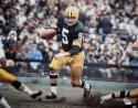 Paul Hornung Autographed Green Bay 16x20 Running Photo *Blue- JSA Witness Auth