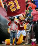Clinton Portis Autographed 8x10 Redskins Carrying Flag Photo JSA W Authenticated