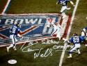 Everson Walls Autographed 8x10 Giants Super Bowl Photo JSA Witness Authenticated
