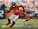 DeMaryius Thomas Autographed 8x10 Running Against Vikings Photo- JSA W Authenticated