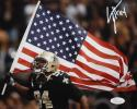 Cameron Jordan Autographed 8x10 Saints Carrying Flag Photo- JSA W Authenticated