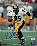 Greg Lloyd Autographed Steelers 8x10 Running Photo PF - JSA Authenticated