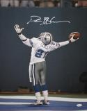 Deion Sanders Signed Dallas 16x20 Cheering Photo *White Top Center - JSA W Authenticated