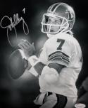John Elway Broncos Autographed 8x10 Black and White Photo- JSA W Authenticated