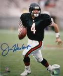 JIm Harbaugh Autographed Bears 8x10 Running Blue Jersey Photo- JSA Authenticated