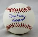 Tony Perez Autographed Rawlings OML Baseball with HOF and JSA Witnessed Auth