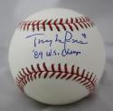 Tony La Russa Autographed Rawlings OML Baseball W/ WS Champs- JSA Auth