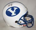 Jim McMahon Autographed BYU Cougars F/S Helmet- JSA Witnessed Auth