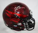 Michael Crabtree Texas Tech Black F/S Replica Never Quit Helmet- JSA W Auth