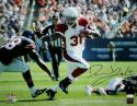 David Johnson Autographed Arizona Cardinals 16x20 Stiff Arm PF Photo- JSA Witness Auth