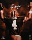 Brett Favre Autographed 16x20 Back View Sepia Photo- JSA Witness Authenticated