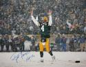 Brett Favre Autographed HOF 16x20 Celebrating in Snow Photo- JSA Witness Authenticated