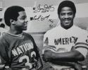 Tony Dorsett Earl Campbell Autographed HOF 16x20 B&W Photo - JSA W Auth