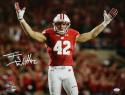 TJ Watt Autographed Wisconsin Badgers 16x20 Arms in Air PF Photo- JSA W Auth/Holo