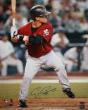 Craig Biggio Autographed 16x20 Batting *Blue PF Photo- Tristar Auth