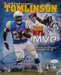 LaDainian Tomlinson Autographed Chargers 8x10 NFL MVP Poster Photo- JSA W Auth