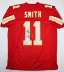Alex Smith Autographed Red Pro Style Jersey- JSA Witnessed Authenticated