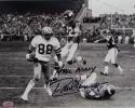 Drew Pearson Autographed 8x10 Dallas Cowboys B/W VS Vikings W/ Hail Mary- SGC Auth