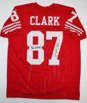 Dwight Clark The Catch Autographed Red Pro Style Jersey- PSA/DNA Auth