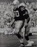 Jim Otto Autographed 8x10 Raiders B/W On Field Photo W/ HOF - JSA W Auth
