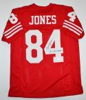 Brent Jones Autographed Red Pro Style Jersey W/ SB Champs- JSA W Authenticated