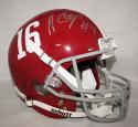 Amari Cooper Autographed Alabama Crimson Tide Full Size Helmet - JSA Witness Auth *Silver
