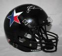 Michael Crabtree Signed Texas Tech Full Size Black Schutt Helmet W/ Star- JSA W Auth *White