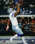 Dak Prescott Autographed Dallas Cowboys 16x20 Pointing Up PF. Photo- JSA W Auth