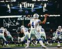 Dak Prescott Autographed Dallas Cowboys 16x20 Against Eagles Photo *White- JSA W Auth/Holo
