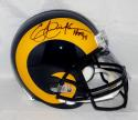 Eric Dickerson Autographed F/S LA Rams 81-99 TB Helmet With HOF- Beckett Auth