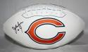 Jim McMahon Autographed Chicago Bears Logo Football- JSA Witness Auth