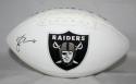 Michael Crabtree Autographed Oakland Raiders Logo Football JSA Witness Authenticated