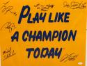 1988 Notre Dame Autographed 16x20 Play Like A Champion Today Photo- JSA W Auth